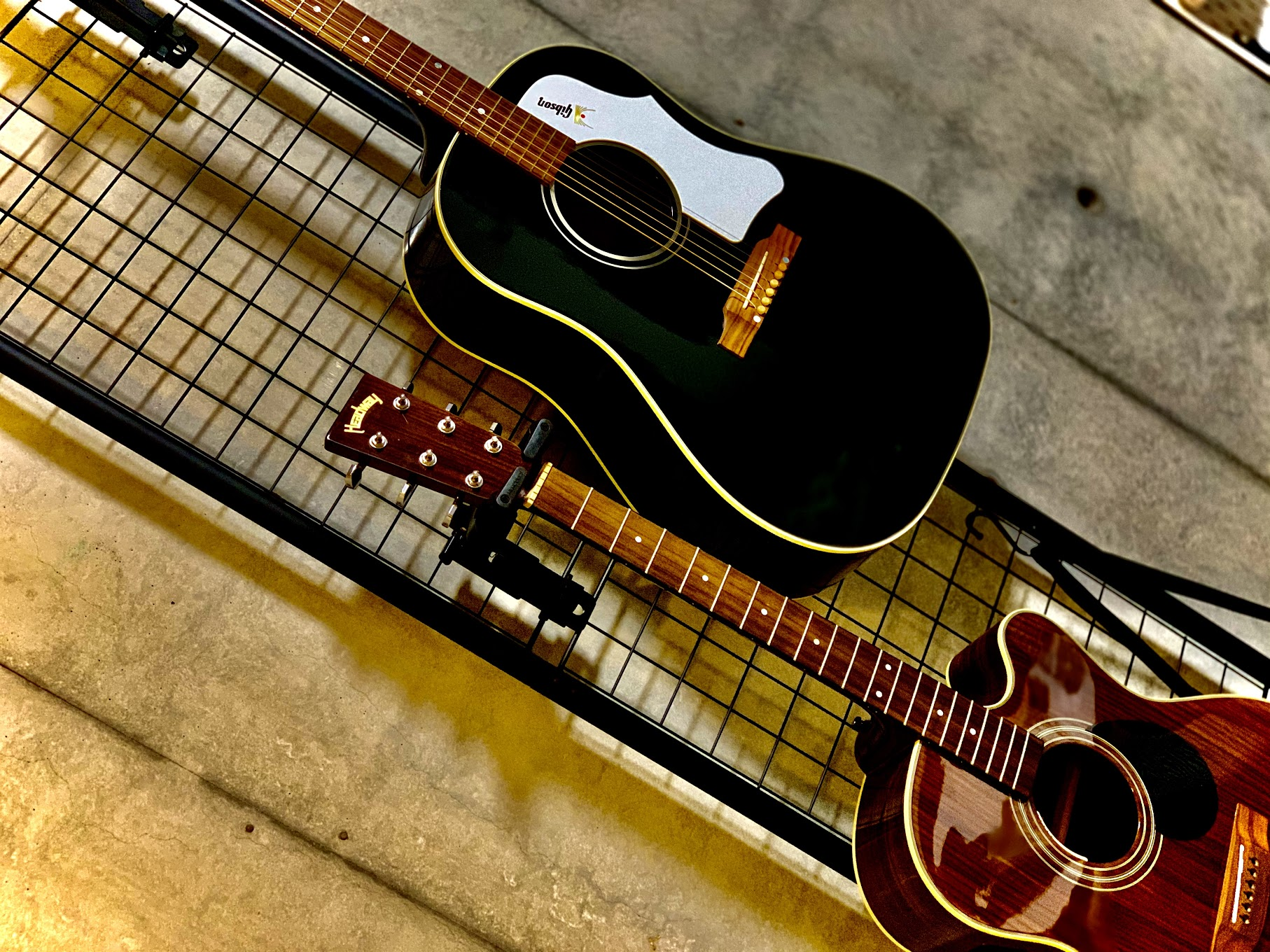 ギターの壁掛け