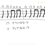 ストロークの楽譜